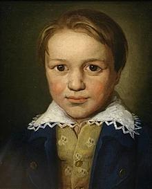 Портрет Бетховена в 13-летнем возрасте, неизвестный боннский мастер (предположительно 1783 год)