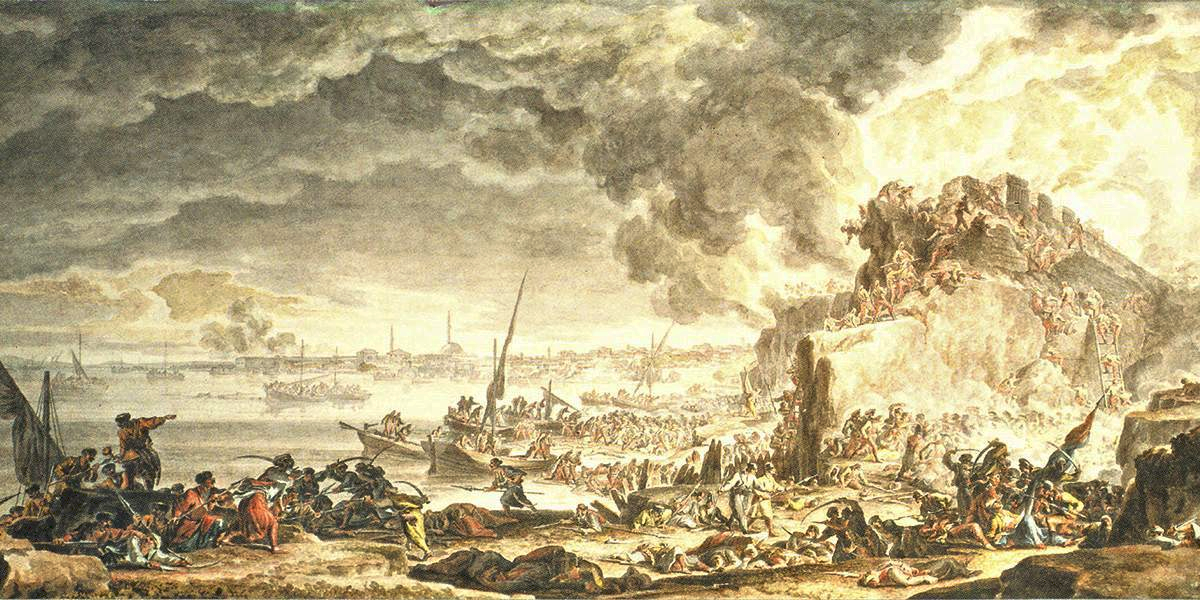 Штурм Измаила 11 декабря 1790 года, художник — М. Иванов