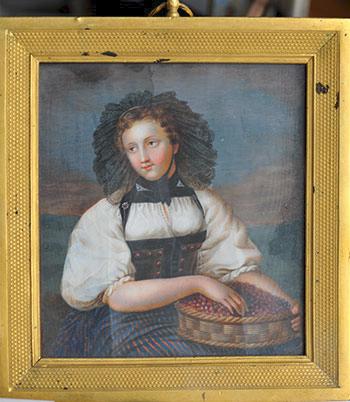 Неизвестный художник. Девушка с ягодами. 1830-е