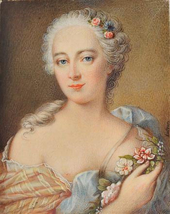 М. Делатур-Симон. Женский портрет. Бельгия.XVIII в.