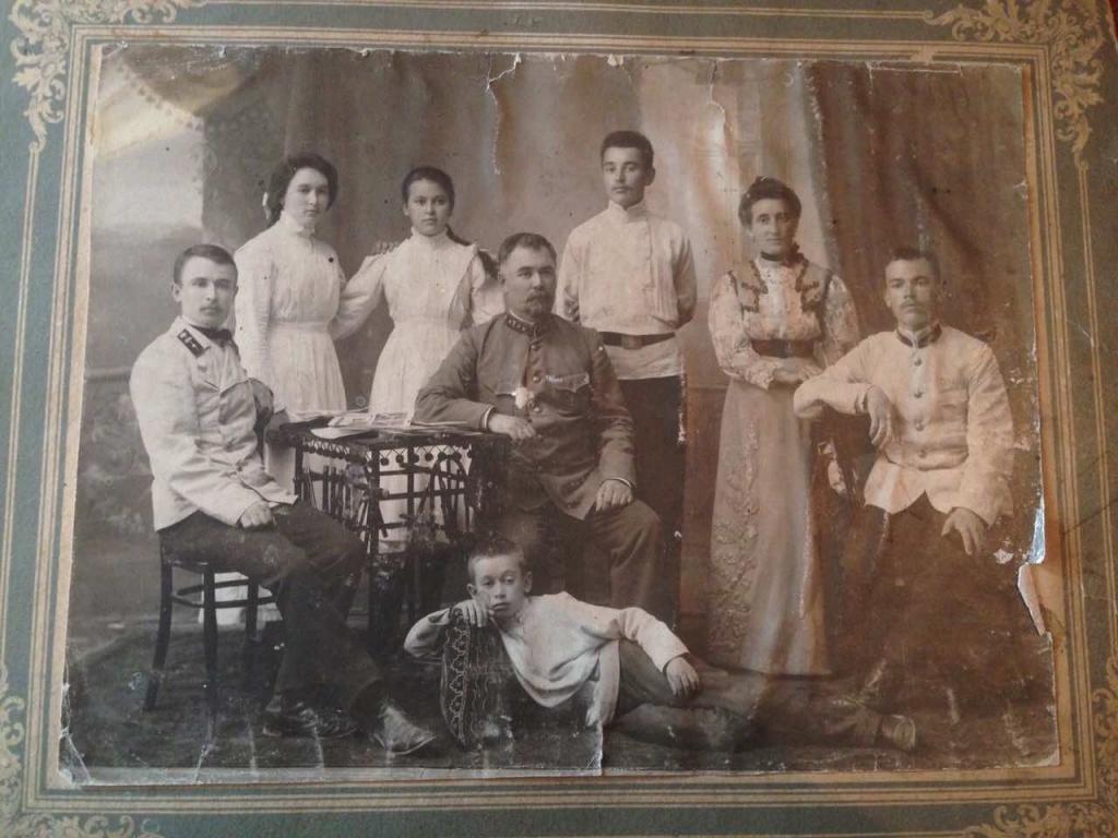 Семья Киселевых. Самарканд, 1910