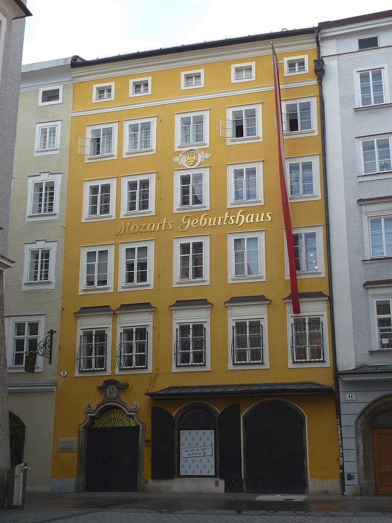 Getreidegasse, 9. Дом, в котором родился Моцарт. Ныне там расположен музей композитора