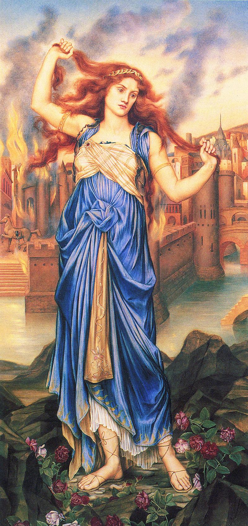 Кассандра, называемая также Александра. Картина Эвелин де Морган (1898)