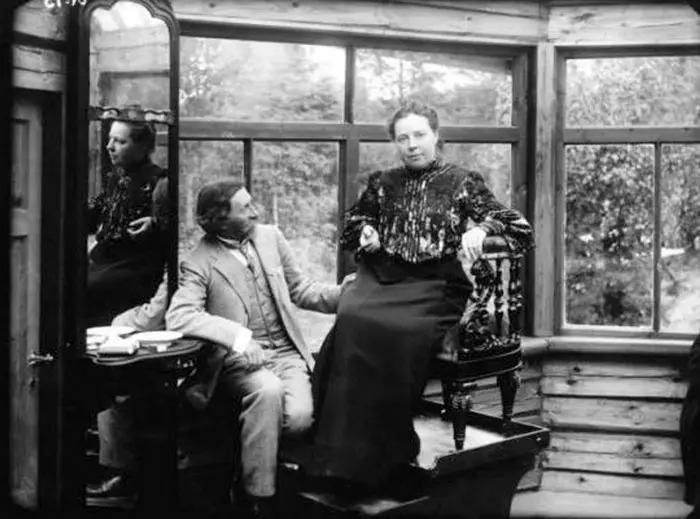 Илья Репин и Наталья Нордман в Пенатах. 1900-е