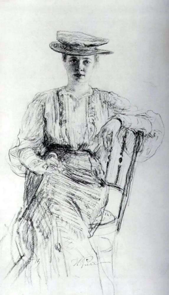 Илья Репин. Портрет Наталии Нордман. 1900
