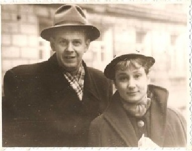 Изольда Милютина и Нисан Шехтман. Киев, 1958 г