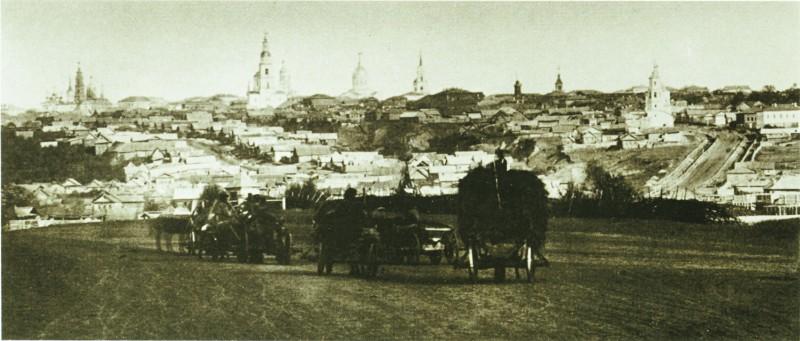 Панорама Симбирска со стороны Московского тракта. 1866–1867 годы. Предоставлено М. Золотарёвым