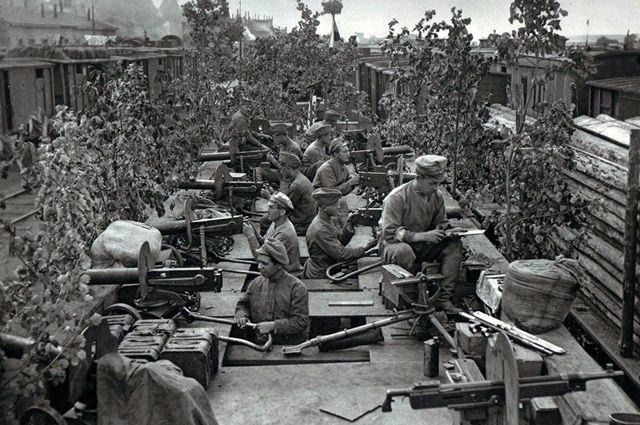 Бронепоезд «Орлик». Пензенская группировка чехословаков. Уфа, июль 1918 года. Commons.wikimedia.org