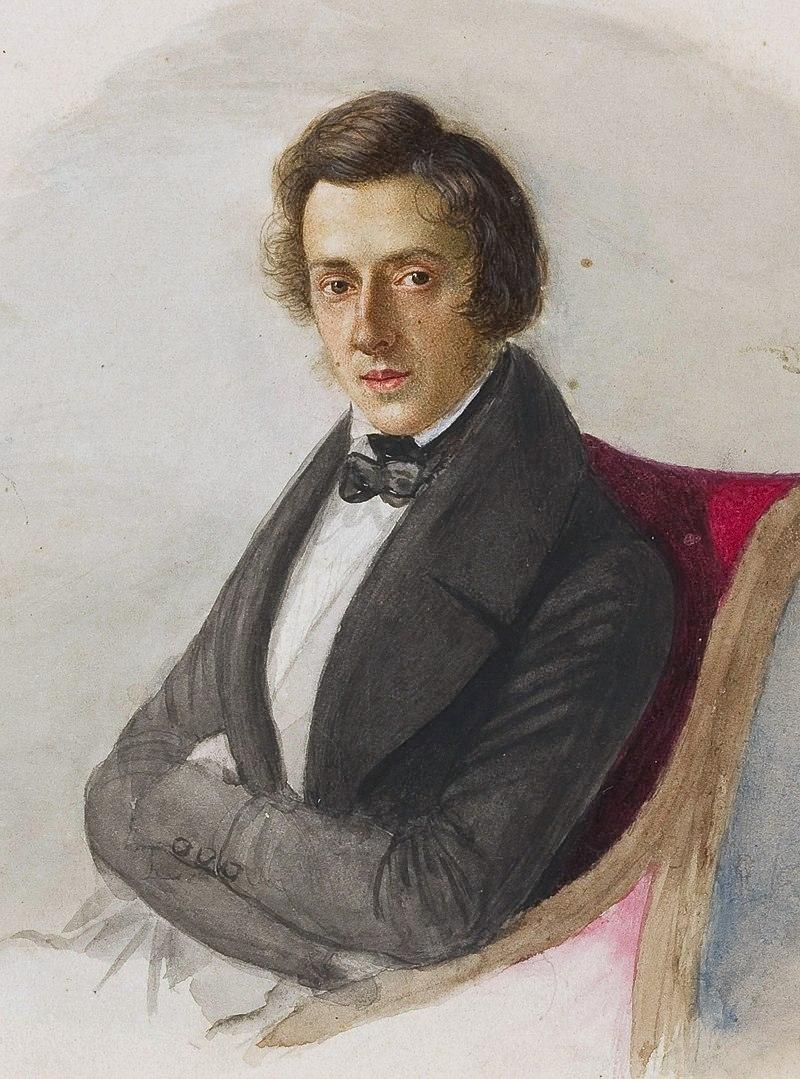 Портрет композитора работы Марии Водзинской (1836) / Chopin, by Wodzinska / Maria Wodzińska - wydarzenia.o.pl