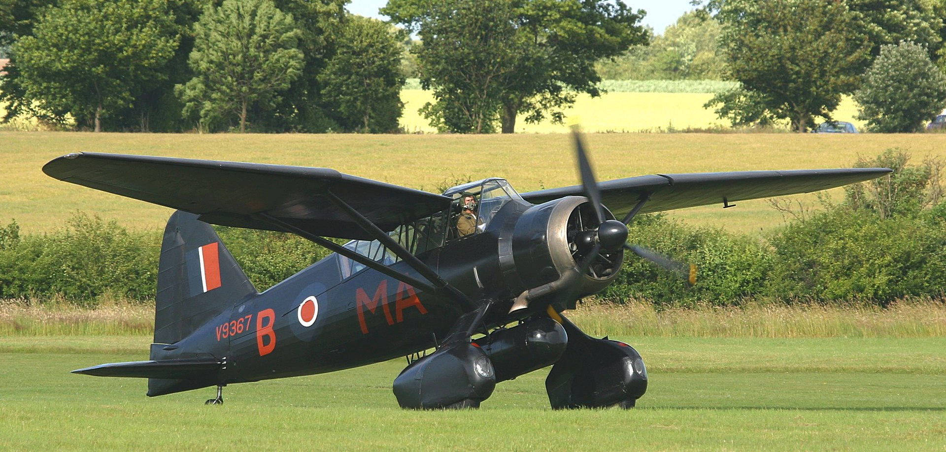 Westland Lysander Mk III (SD), the type used for special missions into occupied France during World War II.