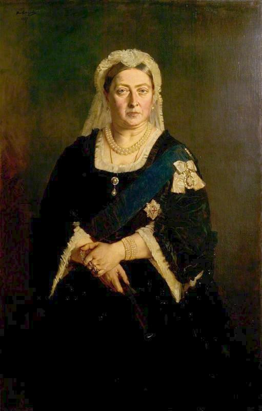 Генрих фон Ангели (ум. 1925). Портрет королевы Виктории