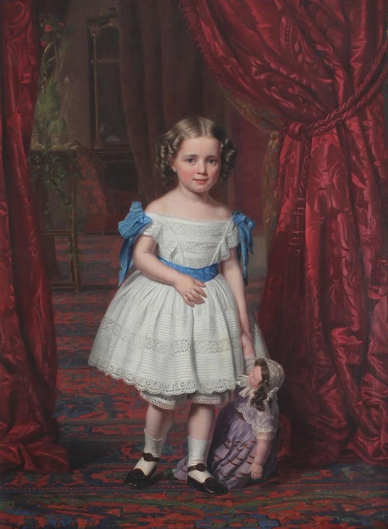 Принцесса Тира в юности, портрет Августа Шьетта (1857 г.)