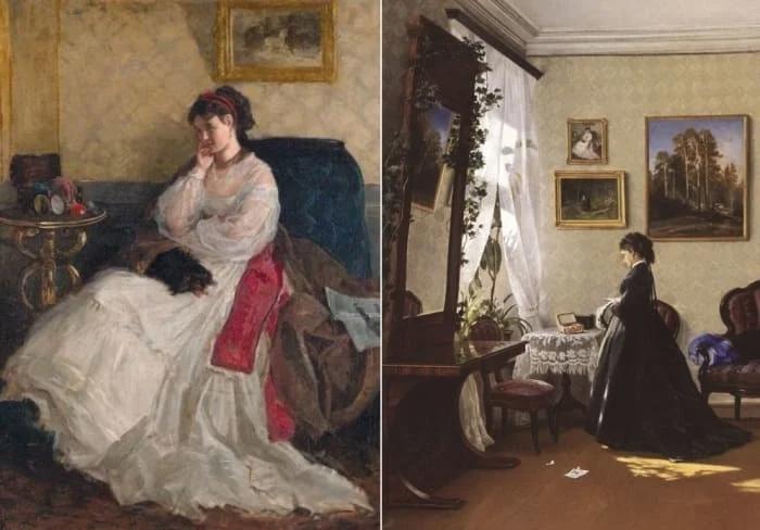 Шишкин изобразил свою первую жену на двух картинах