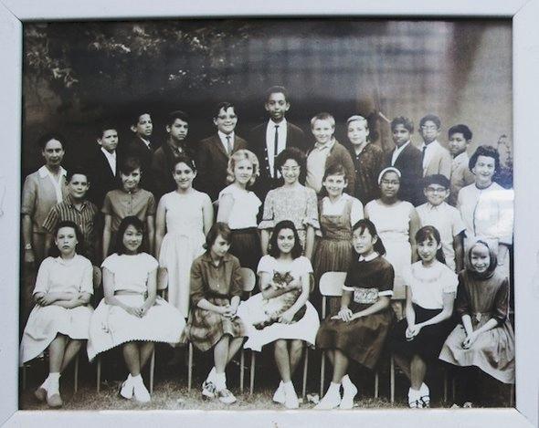 Ученики и учителя с котом Восемь
