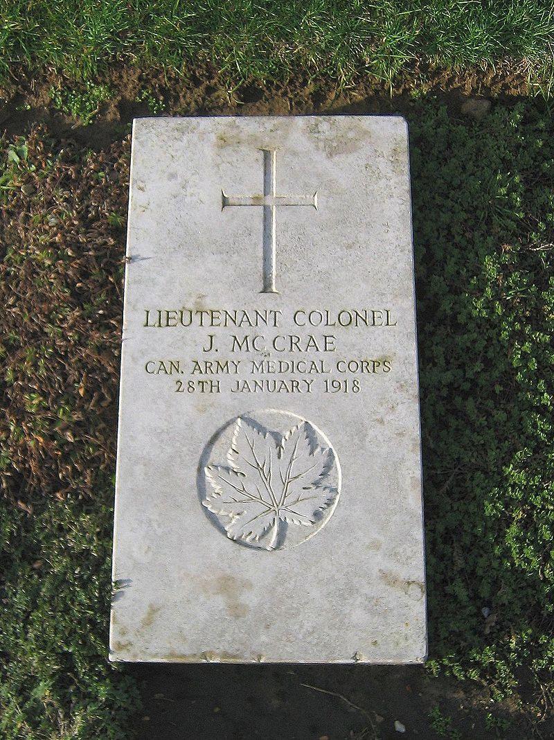 McCrae's grave at Wimereux cemetery