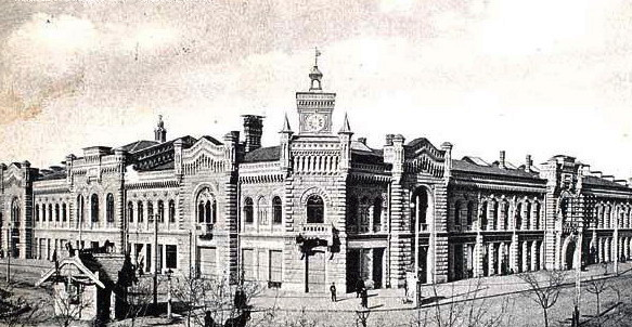 """The City Hall building (then """"the city duma""""), was built between 1898-1901, when, the Carol Schmidt was in administration."""