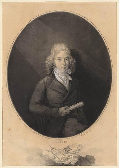 Phantasieportrait des jungen Grétry (Jean- Baptiste Isabey).