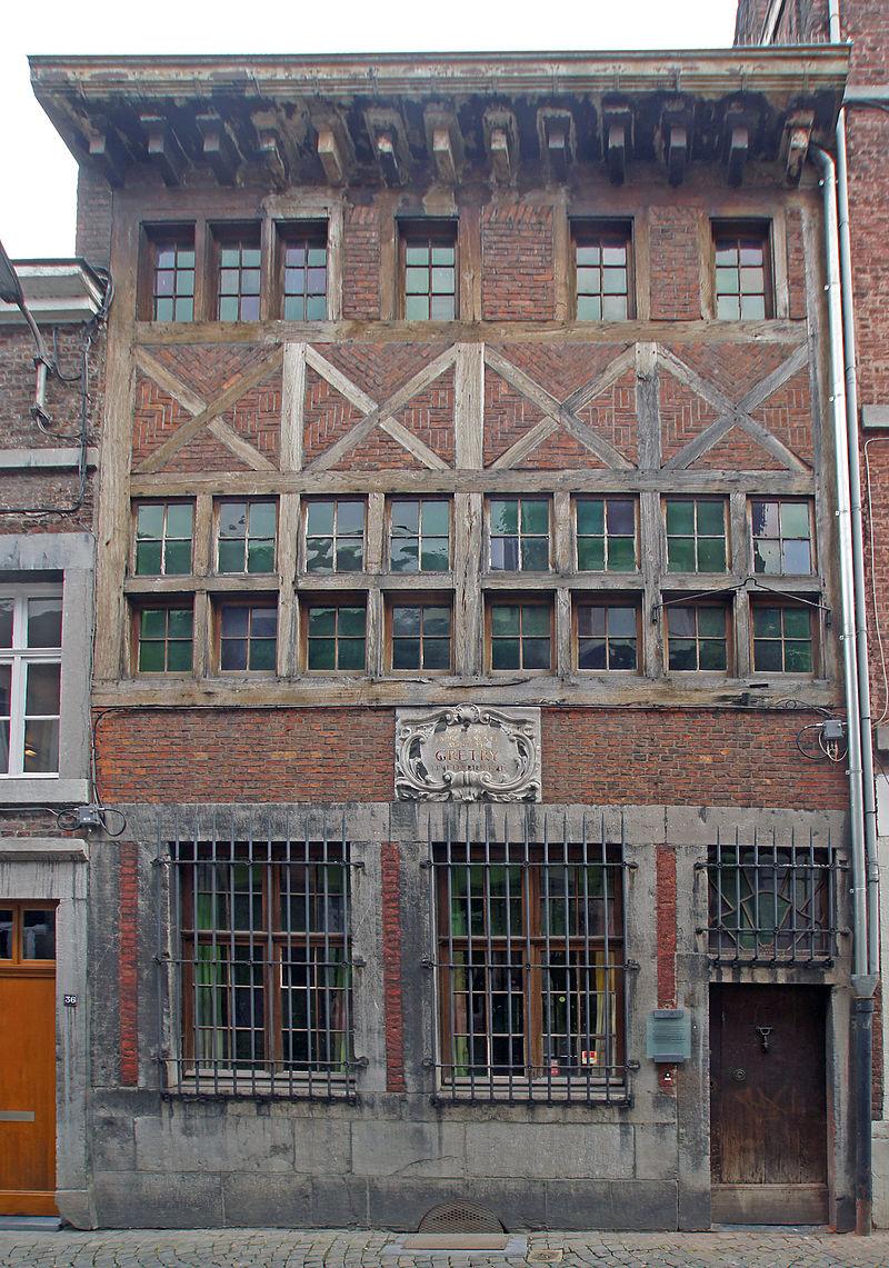Maison natale (actuellement musée Grétry) rue des Récollets à Liège / Дом, в котором родиося Гретри (в настоящее время музей Гретри).