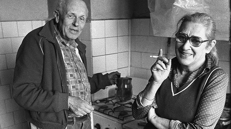 Со второй женой Еленой Боннэр. 1980-е годы. Фото из открытых источников. Яндекс