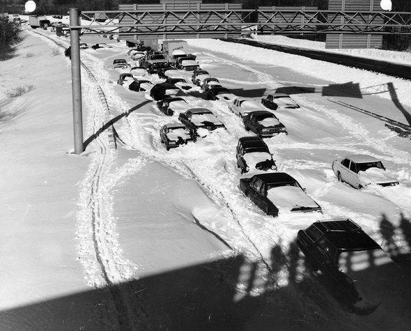 Последствия метели февраля 1978 года. Фото: Wikimedia Commons