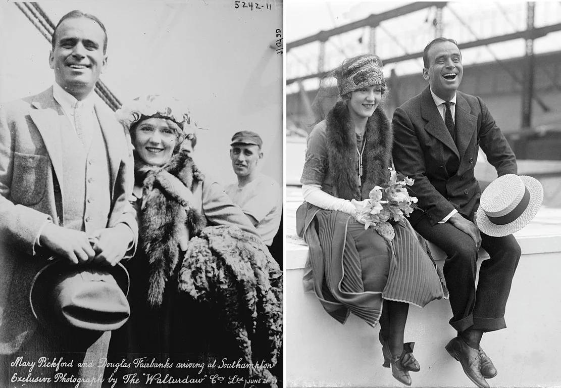 Мэри Пикфорд и Дуглас Фэрбенкс, 1920. (сс) Wikimedia Commons