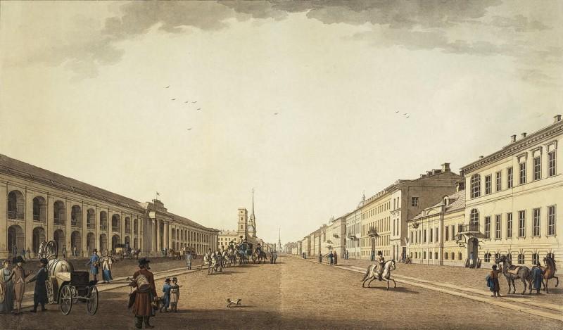 Невский проспект в 1800 году
