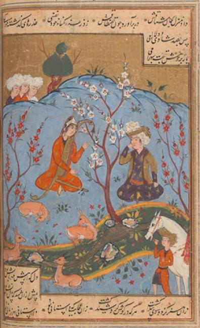 Бахрам слушает как Деларам очаровывает животных / Bahram Gur listens as Dilaram enchants the animals