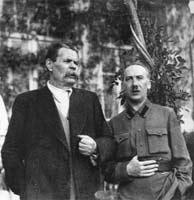 Г. Ягода (справа) и М. Горький.
