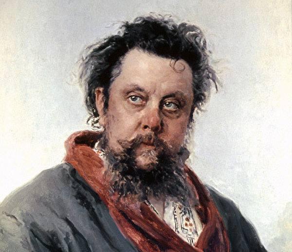 Художник И.Е.Репин  (1844-1930). Портрет композитора Мусоргского