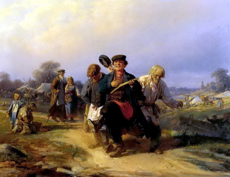 «Возвращение отца семейства с ярмарки», (1868) — Государственная Третьяковская галерея