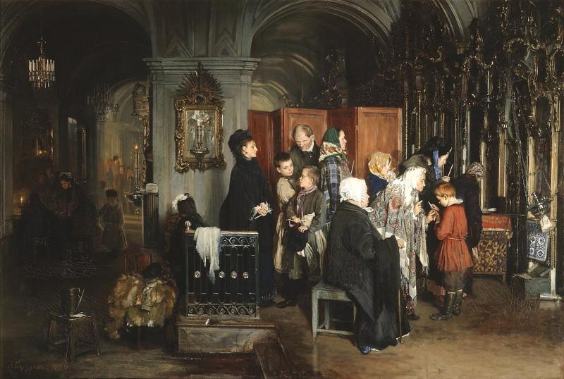 «Перед исповедью», (1877) — Государственная Третьяковская галерея