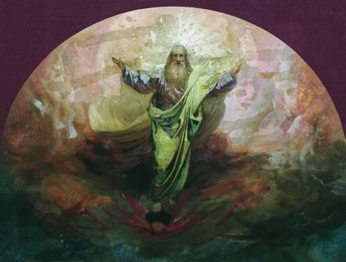 «Бог Саваоф». Эскиз росписи собора в городе Ельце, (ранее 1894) — Ставропольский краевой музей изобразительных искусств.
