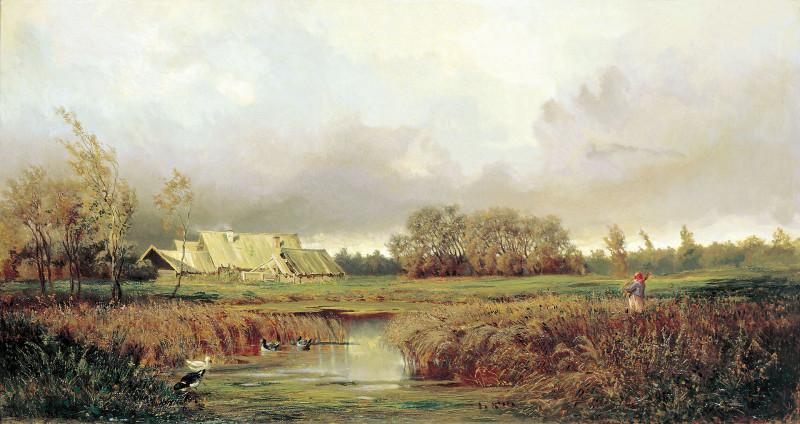 «Болото осенью», (1871).