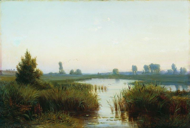 «Пейзаж с болотом», (1898).