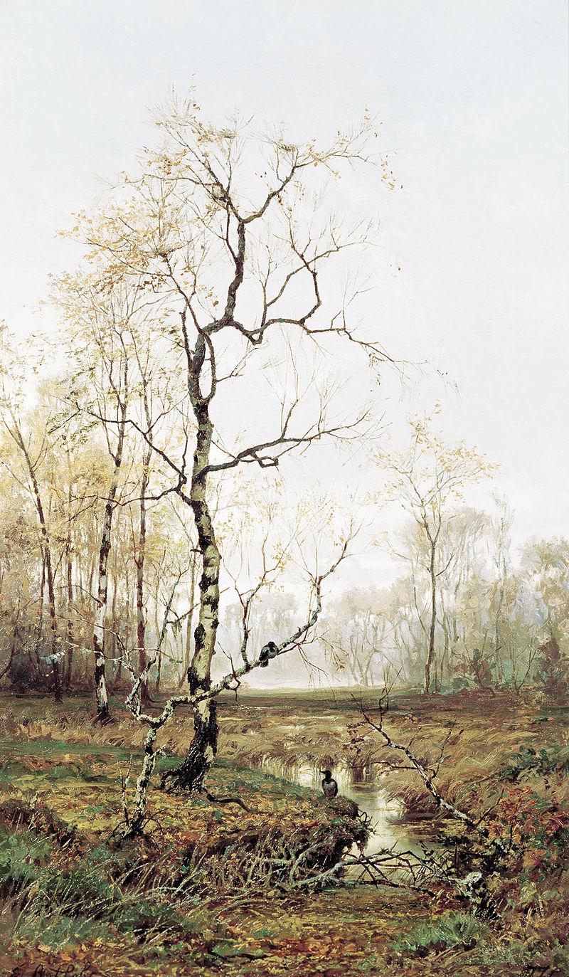 «В лесу. По весне», (1876).