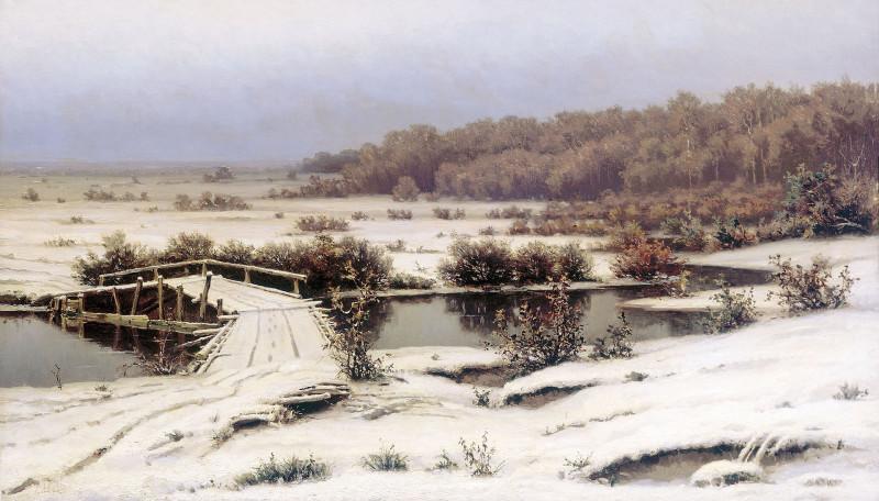 «Ранний снег», (1883).