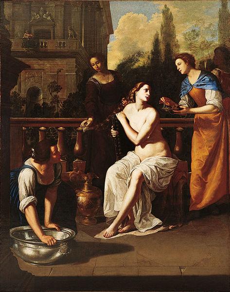 Артемизия Джентилески. Вирсавия. 1636. Холст, масло. Галерея изобразительных искусств, Коламбус