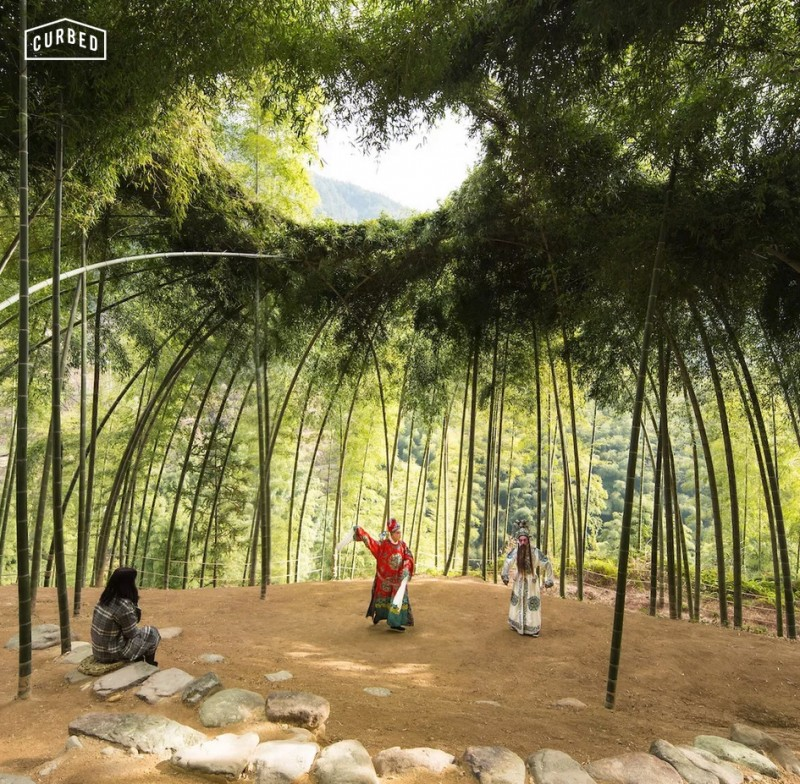 """Nature"", the Cooper Hewitt Triennial, explores how designers are addressing the environment. Bamboo Theater by Xu Tiantian shows how plants can create space in an sustainable way. Wang Ziling © DnA_Design and Architecture"
