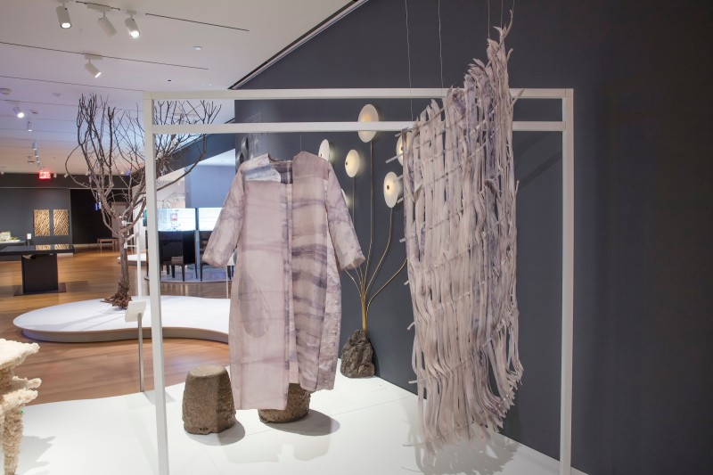 Natsai Audrey Chieza dyed this garment using microbes instead of resource-consumptive dyes. Matt Flynn, Cooper Hewitt