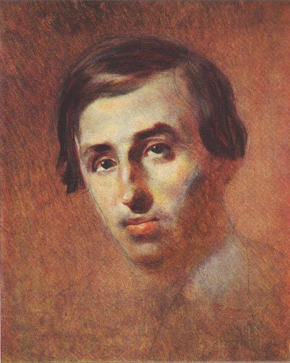 Портрет П. Кулиша, худ. Тарас Шевченко (1843-1847 гг.)