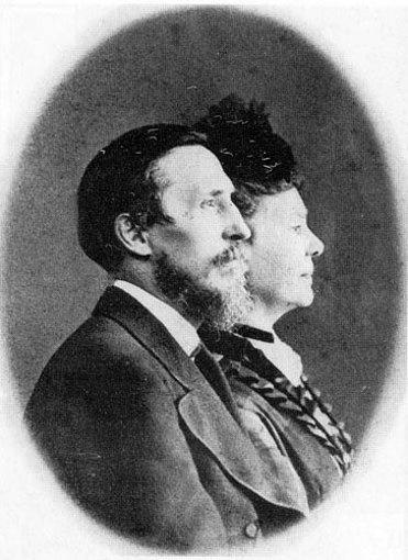 Пантелеймон Кулиш с женой Александрой, 1877