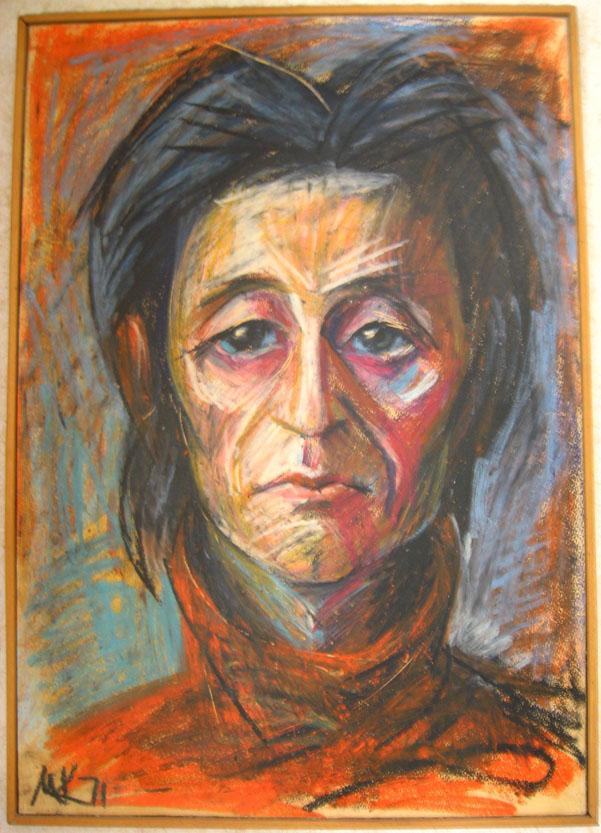 Портрет Виктора Сосноры работы Михаила Кулакова