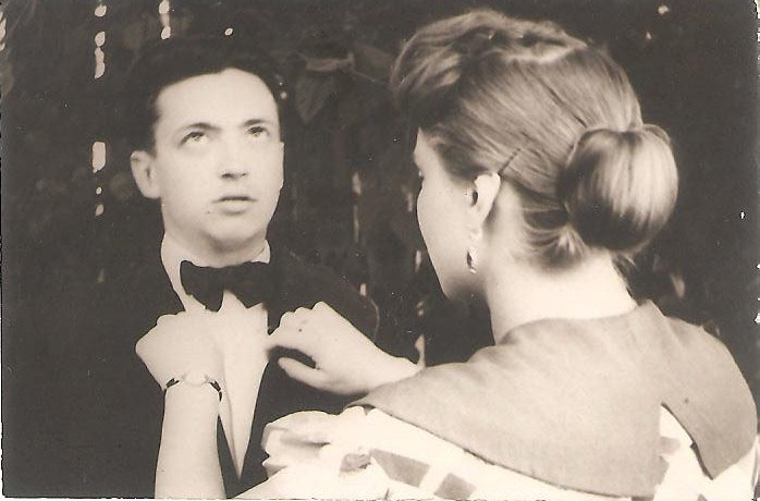 Перед студенческим еонцертом, 1955 г. / Фото из семейного архива И. Б. Милютиной