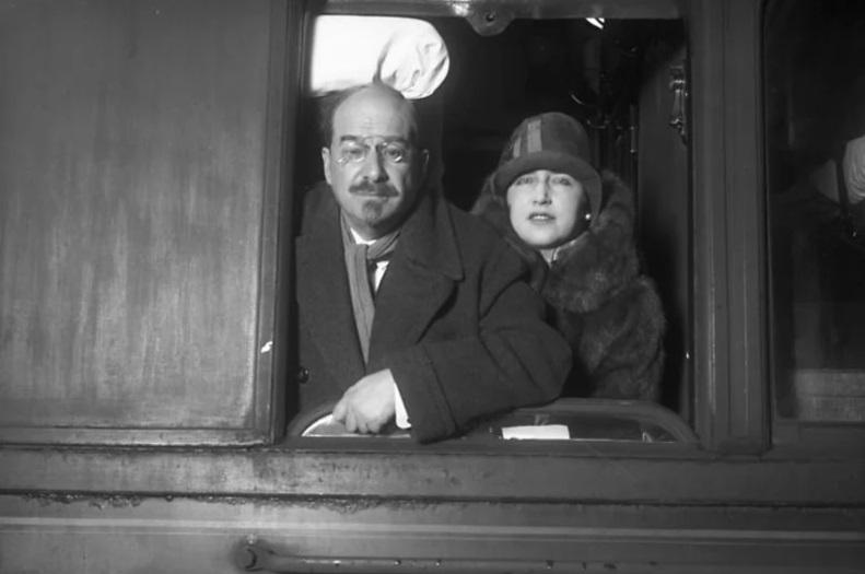 А. В. Луначарский и Н. А. Розенель в Берлине. 1930 г.