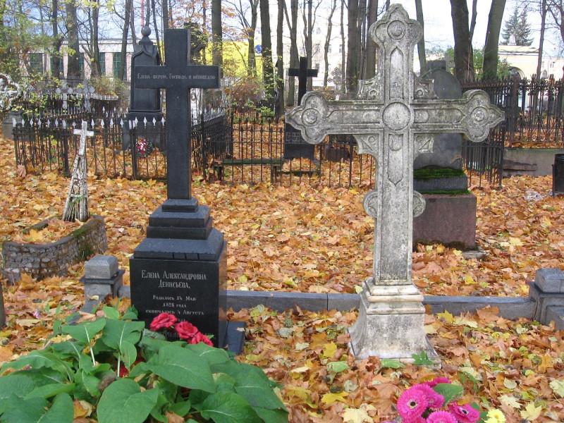 Надгробие Ф. Ф. Тютчева и Е. А. Денисьевой