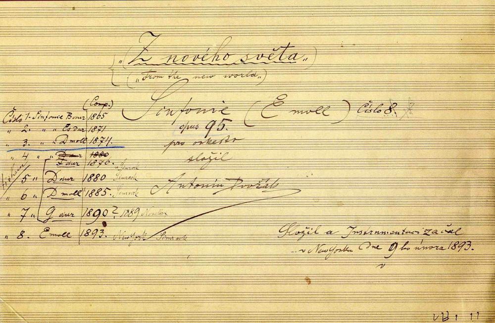 Титульный лист автографа симфонии