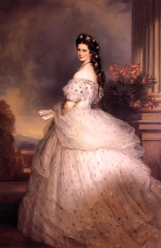 Елизавета Австрийская. Портрет работы Франца Винтерхальтера, 1865 год