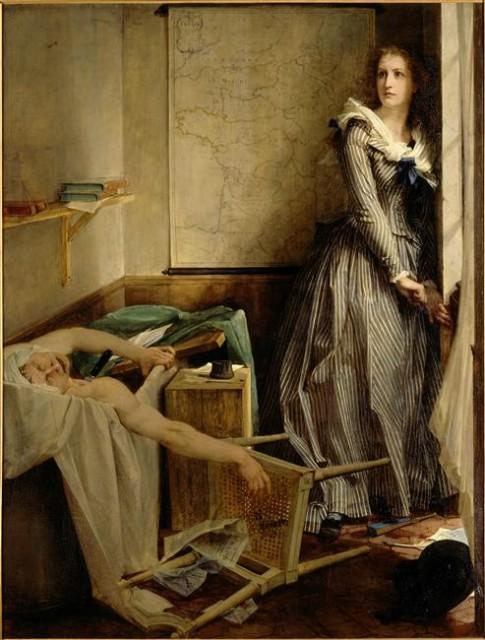Шарлотта Корде. 1860. П. Ж. А. Бодри. Музей изящных искусств в Нанте