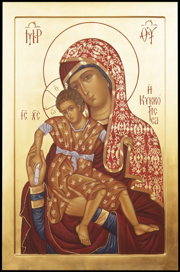 Икона Божией Матери «Милостивая-Киккская»из Зачатьевского монастыря