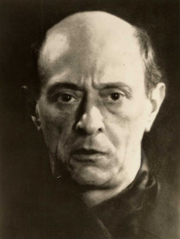 Arnold Schoenberg, 1927, by Man Ray
